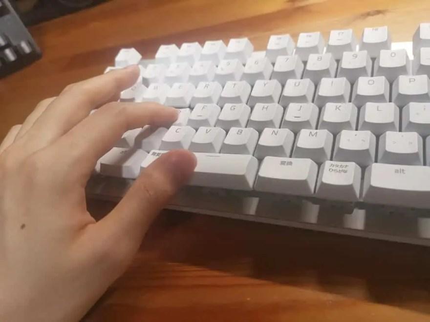 複数のキーを同時押し