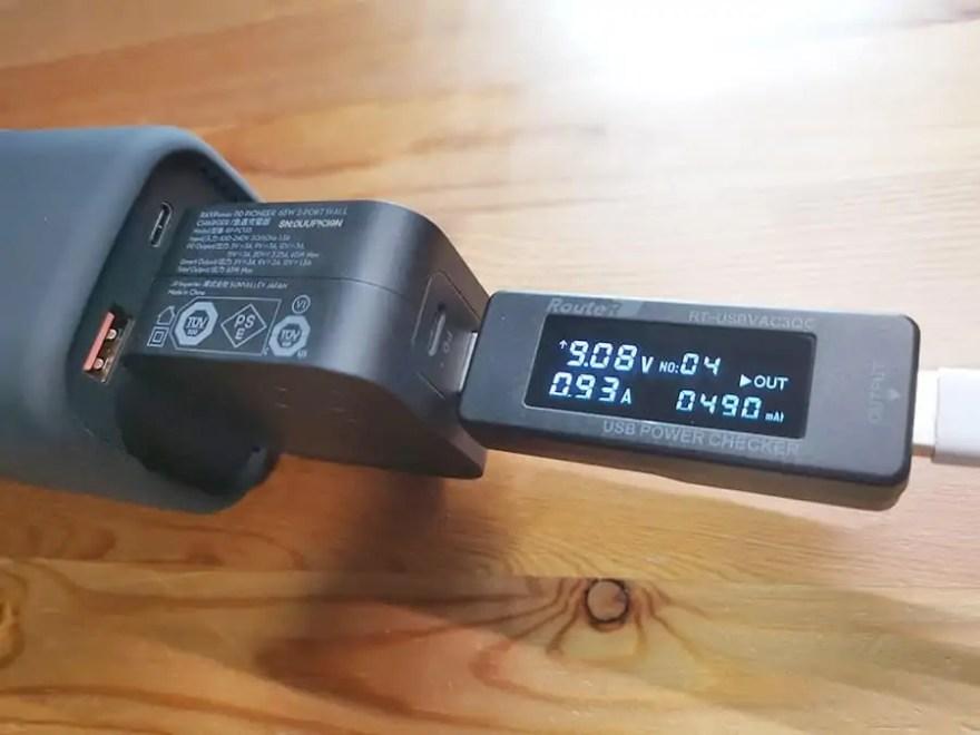RAVPower RP-PB054proのACから測定