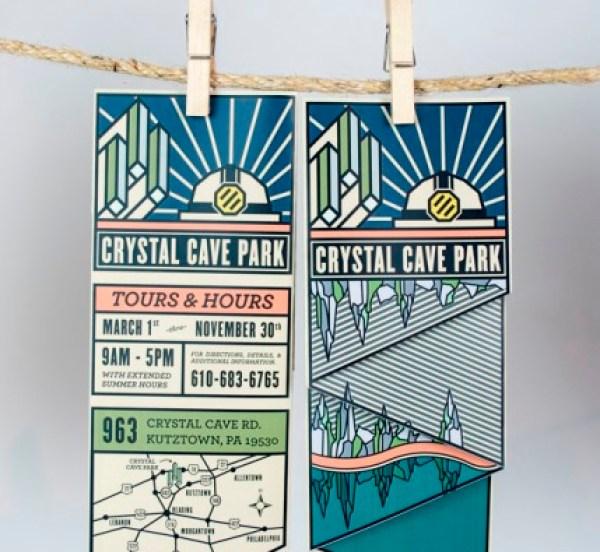 Contoh Desain Brosur Desain Kreatif - Crystal Cave Park 3