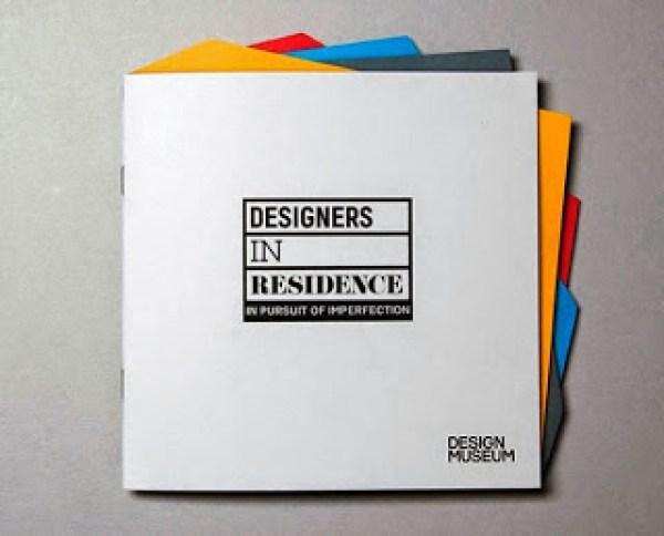 Contoh desain brosur desain kreatif - Designers in Residence 1