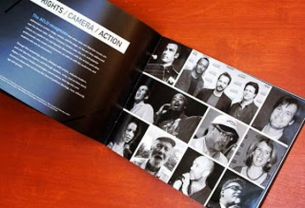 Contoh desain brosur desain kreatif - Rights Camera Action 2