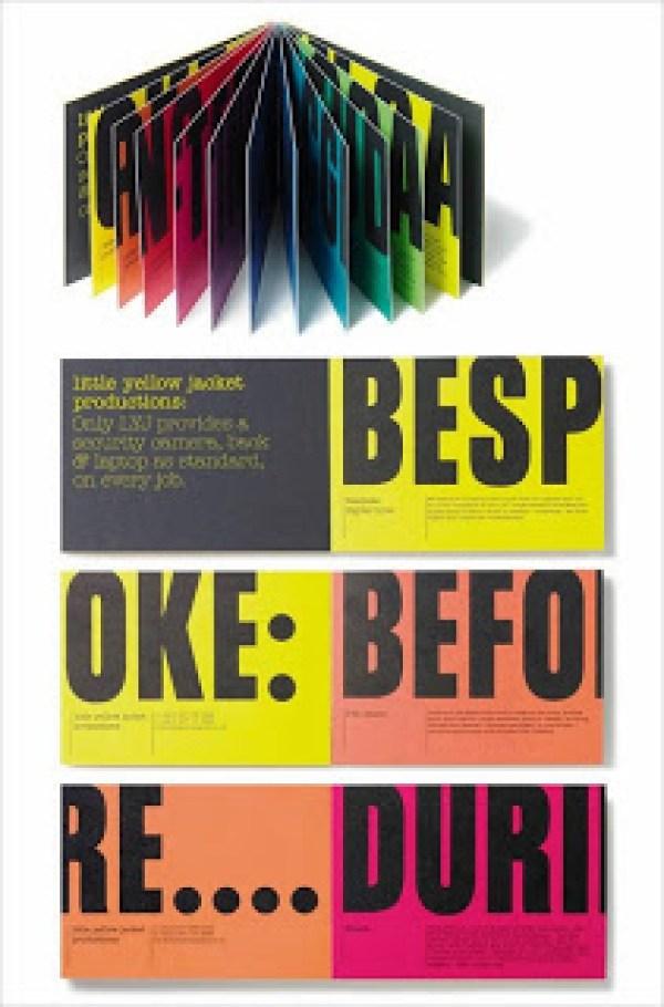 Contoh desain brosur desain kreatif - Studio 8 colorful 1