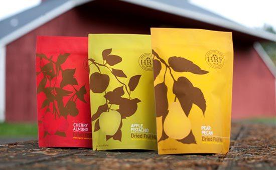 22 Contoh Konsep Desain Kemasan Produk - Konsep Desain Kemasan - Hood River Farms Food Brand Packaging