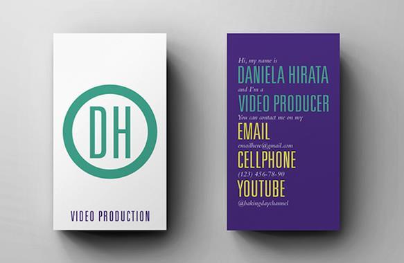 Gambar Desain Kartu Nama Terbaru - Gambar-Contoh-Desain-Kartu-Nama-Daniela-Hirata-by-Rafael-Ramirez