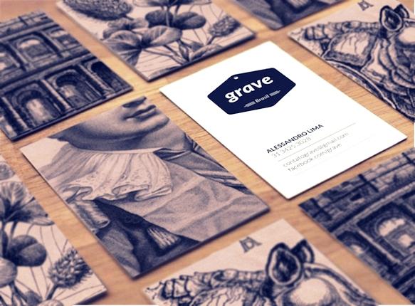 Gambar Desain Kartu Nama Terbaru - Gambar-Contoh-Desain-Kartu-Nama-Grave-by-Valquiria-Rabelo