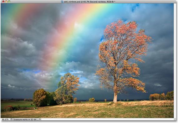 Tutorial Photoshop Membuat Effek Pencahayaan - Tutorial-Photoshop-Membuat-Efek-Cahaya-Pelangi