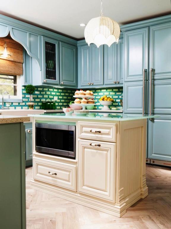 Menentukan Warna Cat Dapur Rumah - Blue-Kitchen