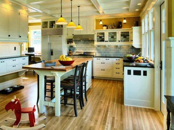 Menentukan Warna Cat Dapur Rumah - kitchen-islands-breakfast-table