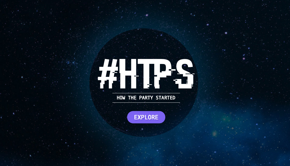 Website dengan Tipografi Keren - How The Party Started