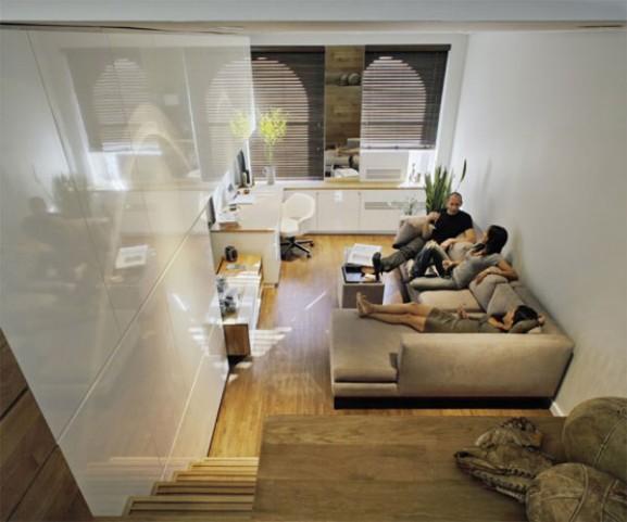 Tips Interior Apartemen Solusi Perbaiki Retak Tembok - Interior Design Narrow Room Apartement 02