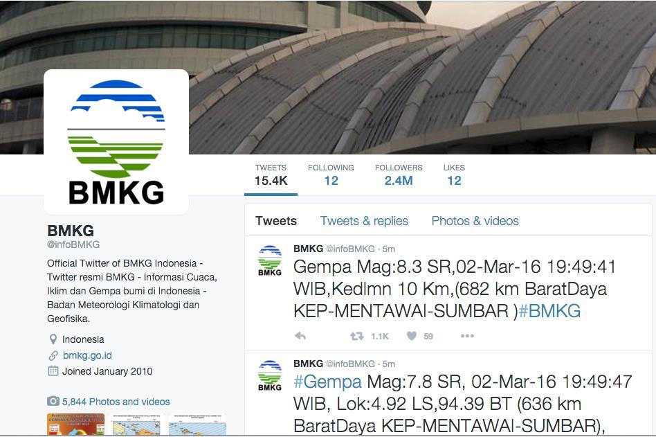 Tips Ketika Terjadi Gempa Bumi 01 - Twitter BMKG