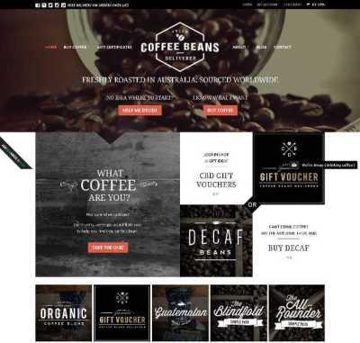 Website Bertema Kopi