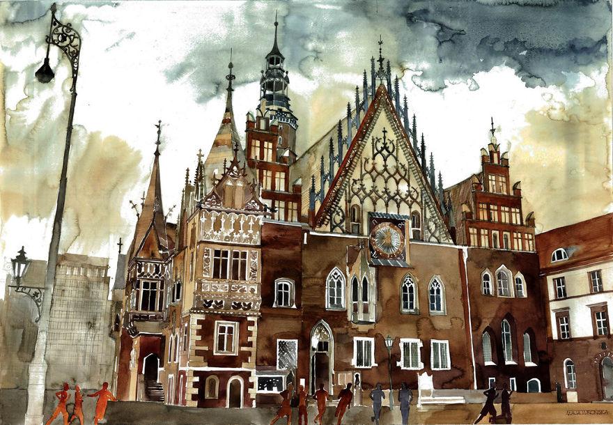 Lukisan arsitektur kota kota dunia