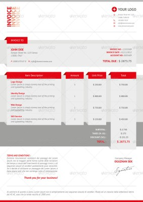 Best Invoice Design Templates for Premium Download