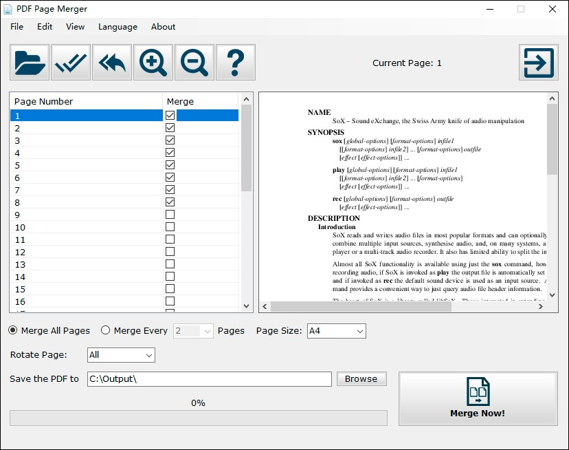 A Brilliant Document Tool Enables People Print Economically by Merging Pages into One