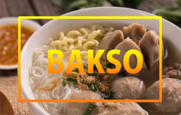 3.Bakso, Soto, Mie Ayam