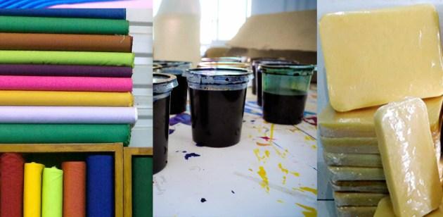 Bahan pembuatan batik cap dan tulis