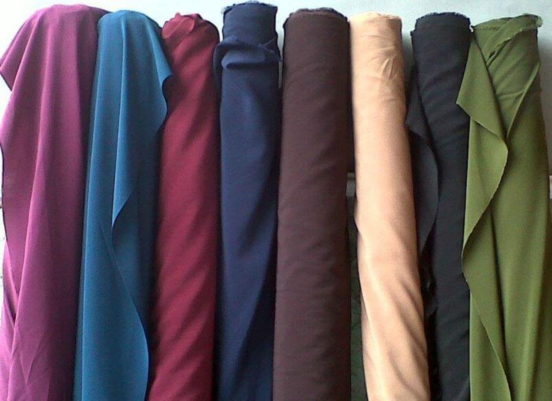 Kekurangan bahan kain wolfis atau woolpeach