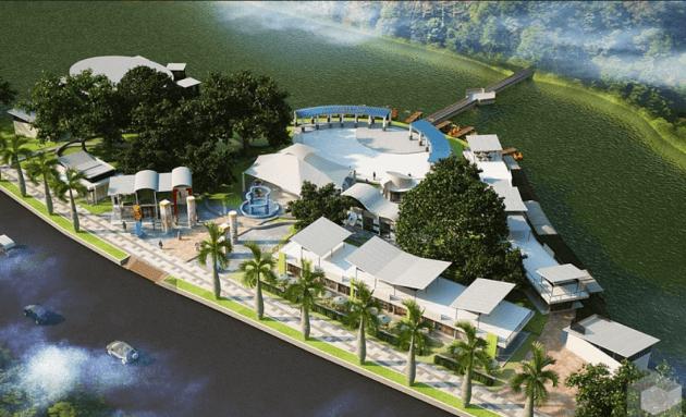 Objek Wisata Palembang Taman Kambang Iwak