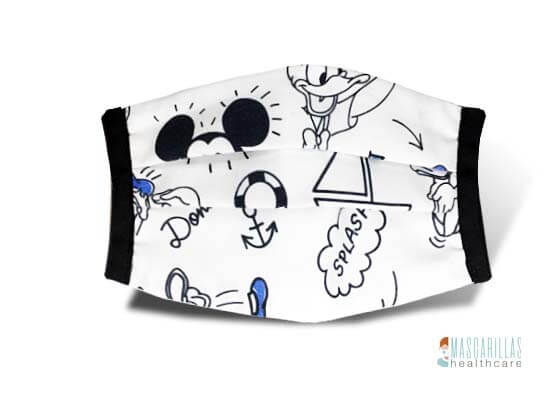 Mascarilla higiénica Blue Mickey Mouse