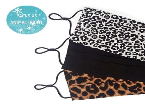 PACKS X3 ANIMAL PRINT