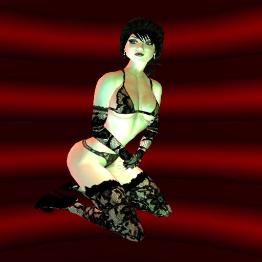 Lilitu Felwich in black Inferno lingerie