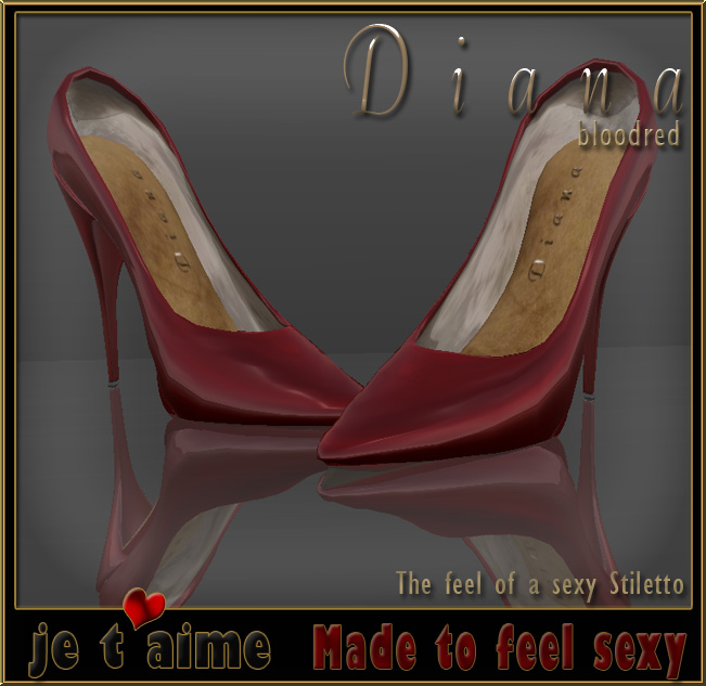 New release at Jetaime: Pumps Stiletto Diana bloodred