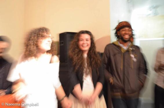 Community Organizer Molly, Creative Director Laura & Music Producer Sherm