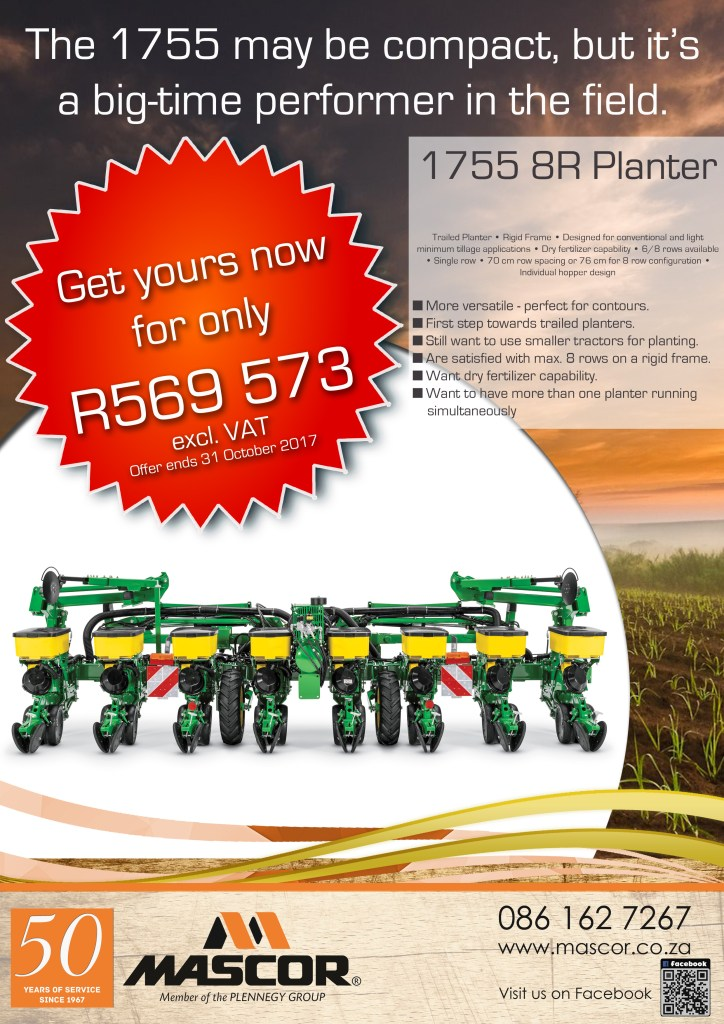 John Deere 1755 8R Drawn Planter – Special Offer from Mascor