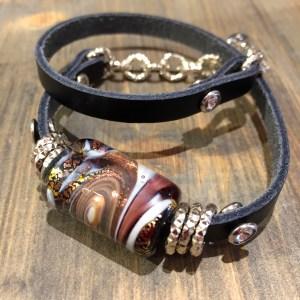 armband Traspartene amber/grey