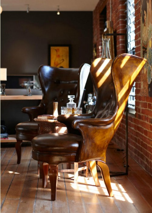 Masculine Leather Chairs