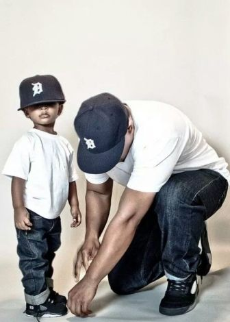 son dressed like dad