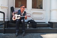 Clothing - Ted Baker, Sunglasses - Persol, Watch - Burberry, Guitar - Martin Little