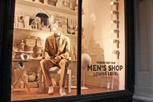 Khaki Suiting and Tretorns