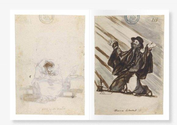 Páginas interior de la publicación Cuaderno C. Francisco de Goya