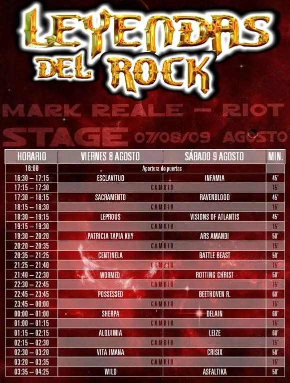 leyendas del rock 2014 nacionales