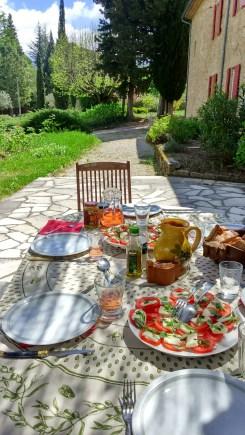 Repas au soleil
