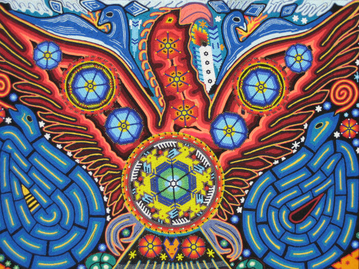 arte-huichol-aguila