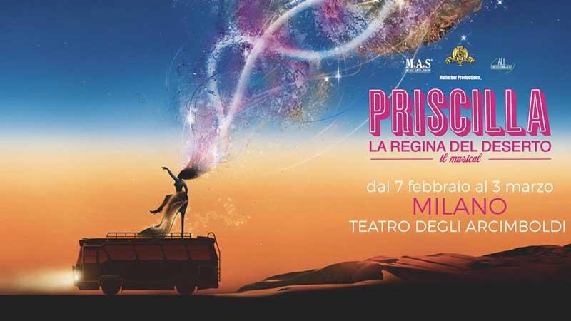Priscilla il musical arriverà a Milano il 7 febbraio 2019
