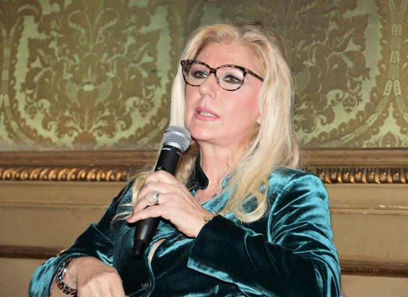 Elena d'Ambrogio Navone durante la presentazione torinese del romanzo Le notti di Kos. Photo credit © Nick Zonna