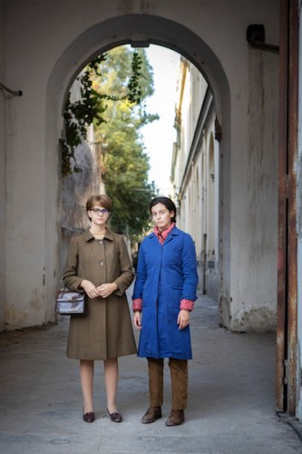Margherita Mazzucco e Gaia Girace nell'episodio finale de L'Amica Geniale 2. Photo by Eduardo Castaldo.