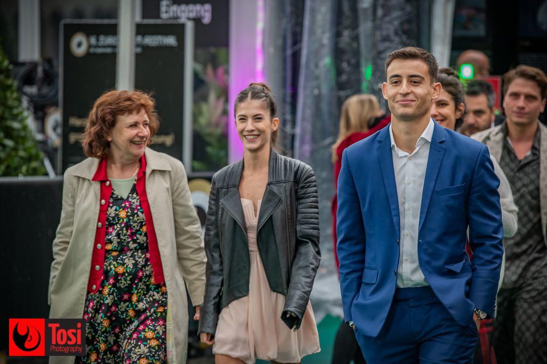 ZFF 2020 - director Gitta Gsell with actor Burak Ates and actress Ecem Aydin © Tosi Photography