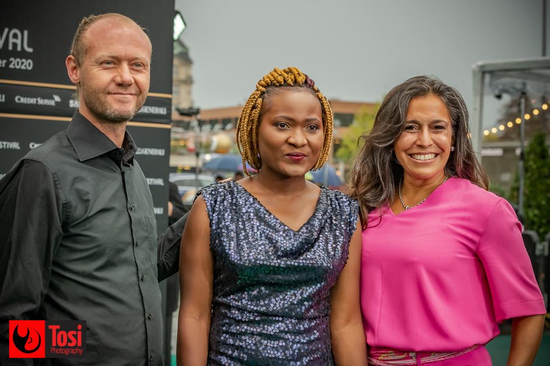 ZFF 2020 - actress Gladys Shonga Furrer with directors Cornelia Gantner and Thomas Furrer © Tosi Photography