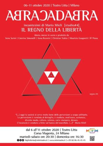 Abracadabra - incantesimi di Mario Mieli locandina spettacolo al Teatro Litta