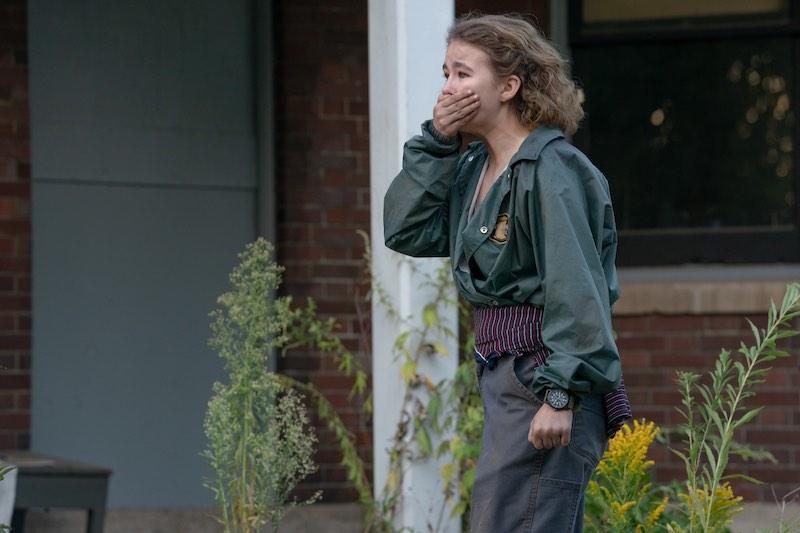 Millicent Simmonds in una scena del film A Quiet Place II. Photo: courtesy of Eagle Pictures.