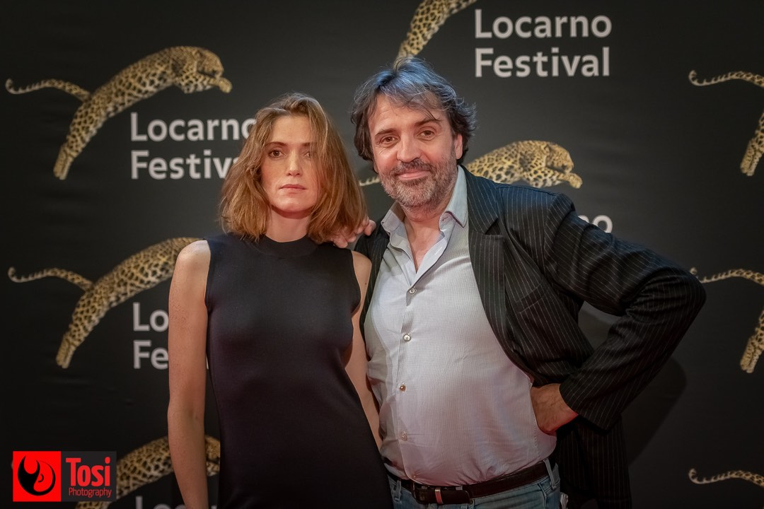 Tosi Photography-Locarno 2021-red carpet film la place d'une autre-actors Maud Wyler and Laurent Poinrenaux