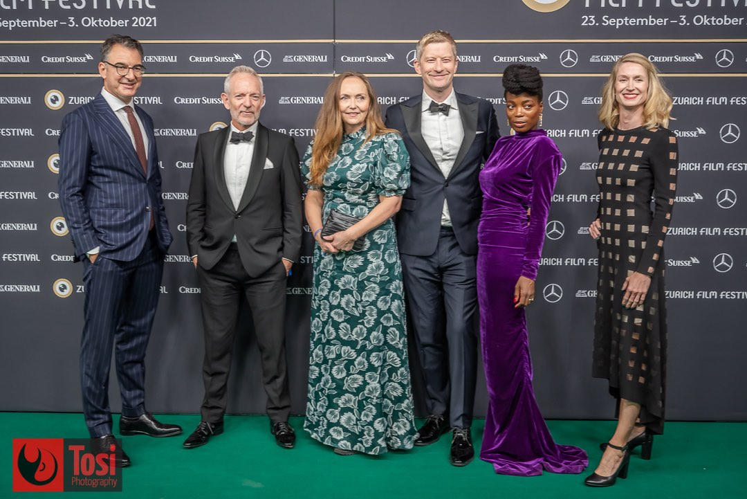 ZFF2021 - film Nothing to Laugh About - Christian Jungen, director Petter Næss, Gudny Hummelvoll, Odd-Magnus Williamson, Tinashe Williamson and Elke Mayer © Tosi Photography