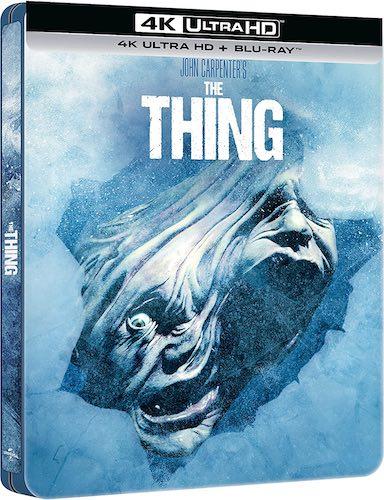 La cover del blu-ray Steelbook Edition del film di John Carpenter LA COSA.