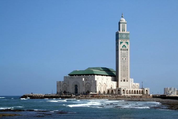Masjid Hassan II yang Berada di Maroko
