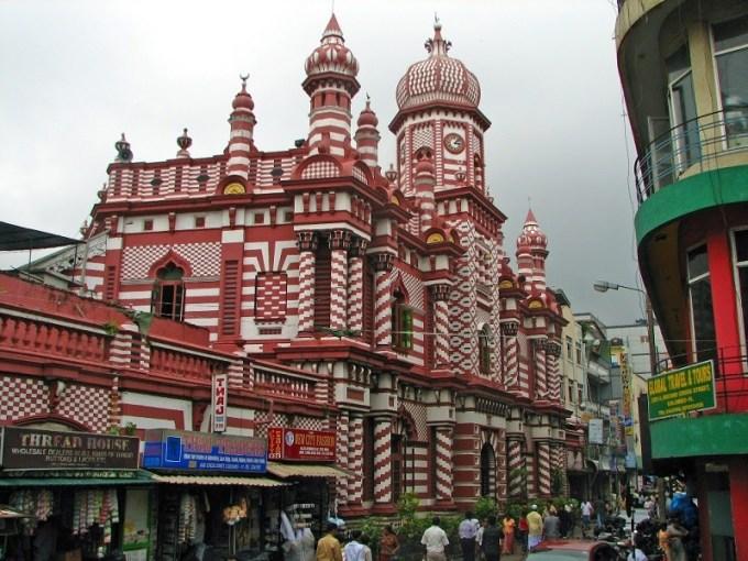 Masjid Jami-Ul-Alfar yang Berada di Colombo, Sri Lanka